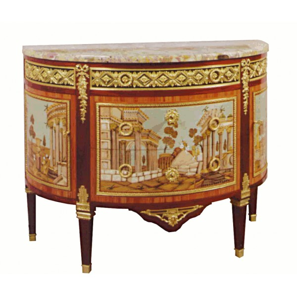 commode-demi-lune-louis-xvi-marquetee