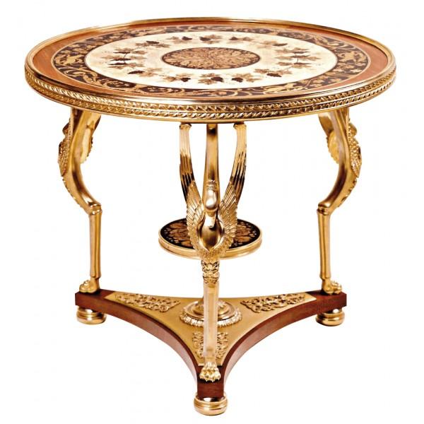table-de-milieu-aux-cygnes-de-style-empire